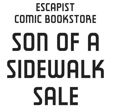 The escapist comic bookstore first 2 comics are free next 10 are 50 cents a piece after that 25 cents each sale applies to all comics in white boxes on the sidewalk malvernweather